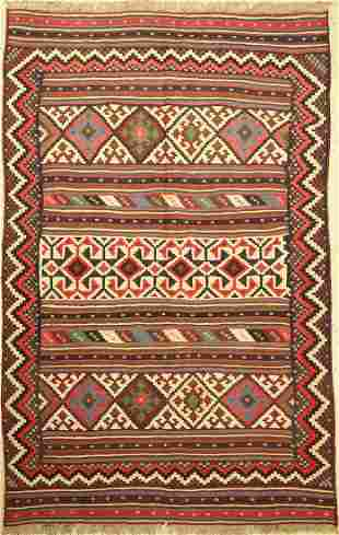 Sirdjan Kilim, Persia, around 1960, wool on wool