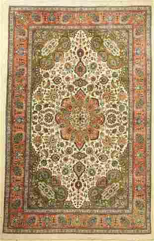 Old Tabriz, Persia, around 1950, wool on cotton