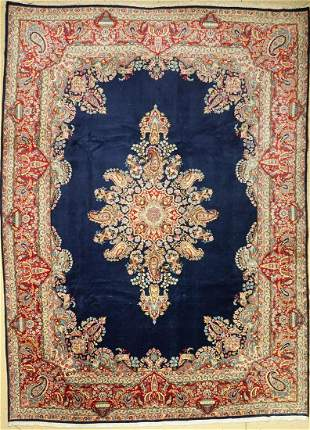 Kerman old, Persia, approx. 50 years, wool on cotton