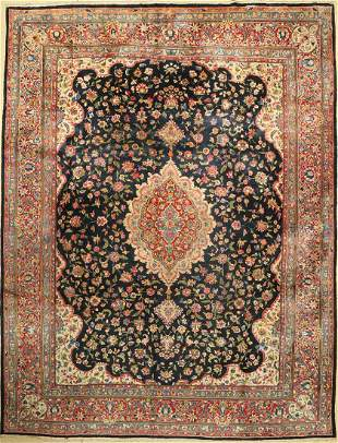 Yazd fine, Persia, approx. 50 years, wool on cotton