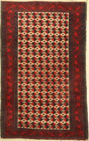 Baluch, Persia, approx. 60 years, wool on wool