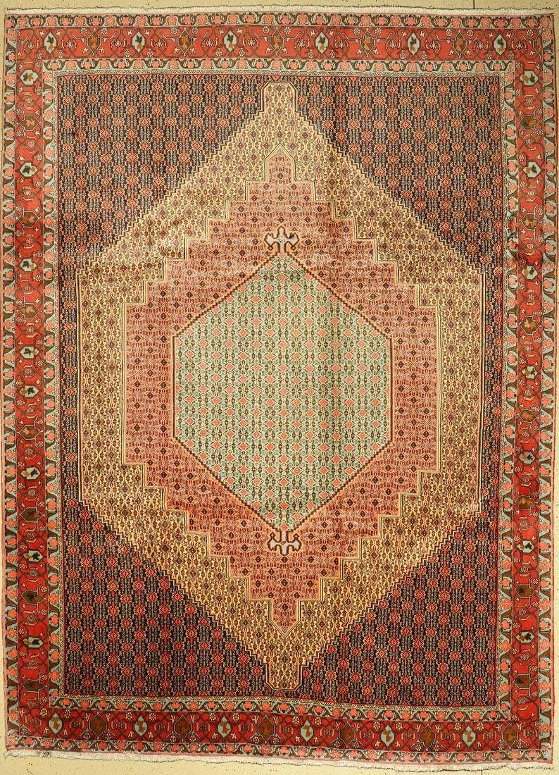 Senneh cork fine, Persia, approx. 40 years, wool on