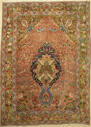 Tabriz fine, Persia, around 1940, wool on cotton