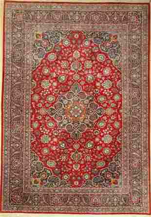 Kashan old, Persia, around 1940, wool on cotton