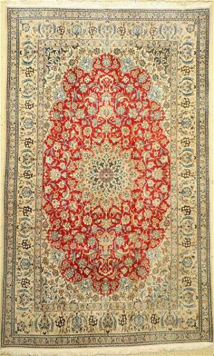 Nain fine, (9 La), Persia, approx. 60 years, wool with
