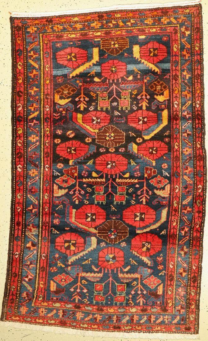 Hamadan old, Persia, around 1930, wool on cotton