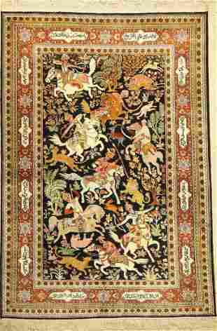 Kashmir (hunting motifs), India, approx. 50 years