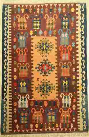 Anatol Kilim, Turkey, approx. 60 years, wool on wool