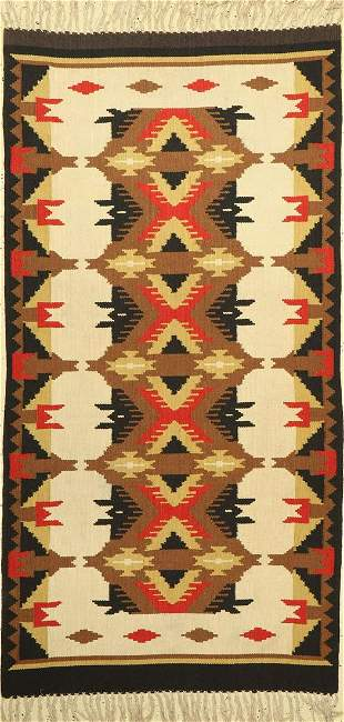 Navaho Kilim, South America, approx. 60 years,wool on