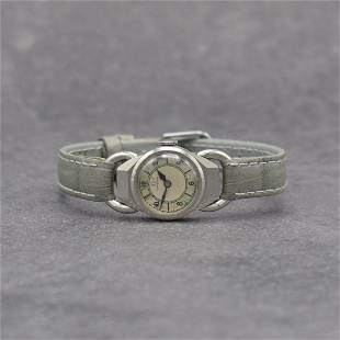 OMEGA early ladies wristwatch in stainless steel
