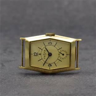 FESTA 14k yellow gold manual wound gents wristwatch