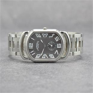 HERMES gents wristwatch in stainless steel
