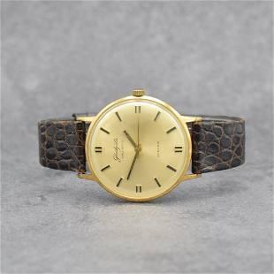 GLASHÜTTE Spezimatic gilt gents wristwatch