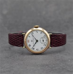 THOMAS RUSSEL & SON 9k pink gold wristwatch