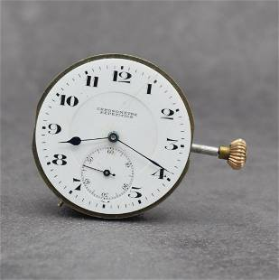 1/4 repeating hunting cased pocket watch movement