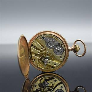 MERMOD FRERES pocket watch movement in neutral gold