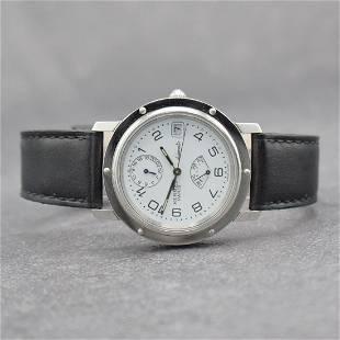 HERMES Paris gents wristwatch with power reserve