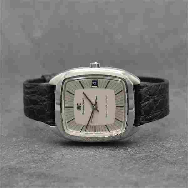 IWC rare gents wristwatch calibre Beta 21 in steel