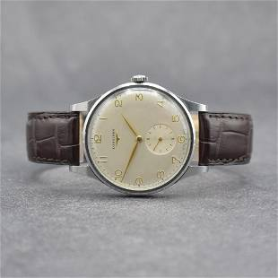 LONGINES big gents wristwatch 38 mm in steel