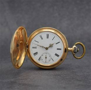 PHILIPPE DUBOIS & Fils 14k gold pocket watch