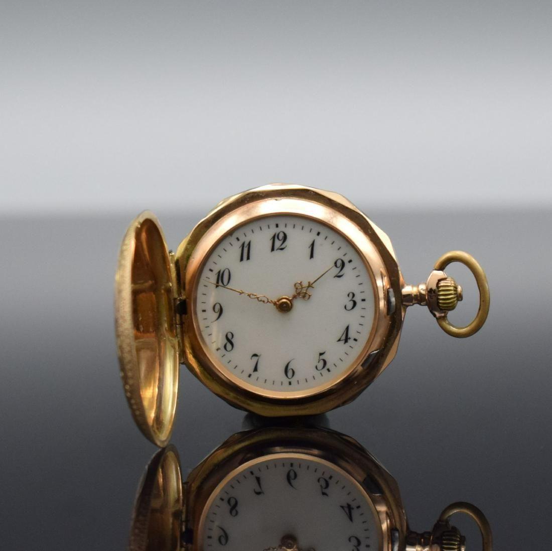 MONOPOL / DÜRRSTEIN & Co. 14k gold ladies pocket watch