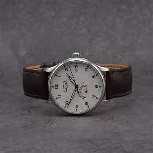 DAVOSA gents wristwatch Reserve De Marche in steel