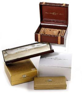 IWC 4 rare wristwatch-boxes, Switzerland around 1970