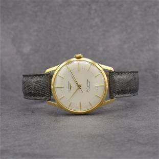 LONGINES Flagship rare 18k yellow gold gents wristwatch
