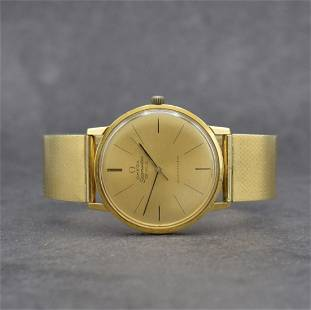 OMEGA Seamaster De Ville 18k gold gents wristwatch