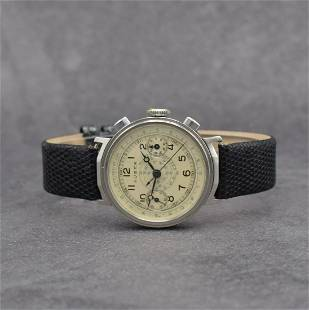 MINERVA / HUBER gents wristwatch with chronograph
