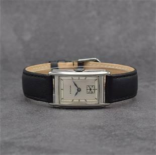 ETERNA rectangular wristwatch in steel