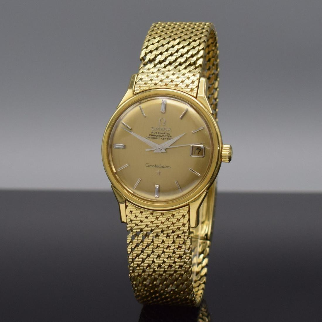 OMEGA 18k yellow gold gents wristwatch