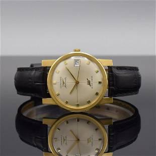 LONGINES Ultra-Chron 18k yellow gold gents wristwatch