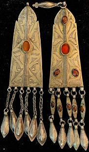 1 pair of Tekke temple pendants, (Tenetschir),antique