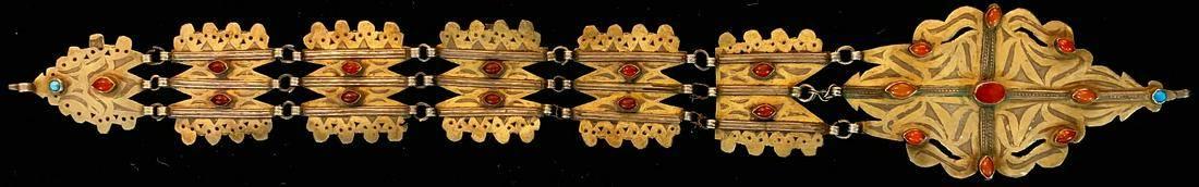 Tekke bonnet jewelry, (Tschanga), antique
