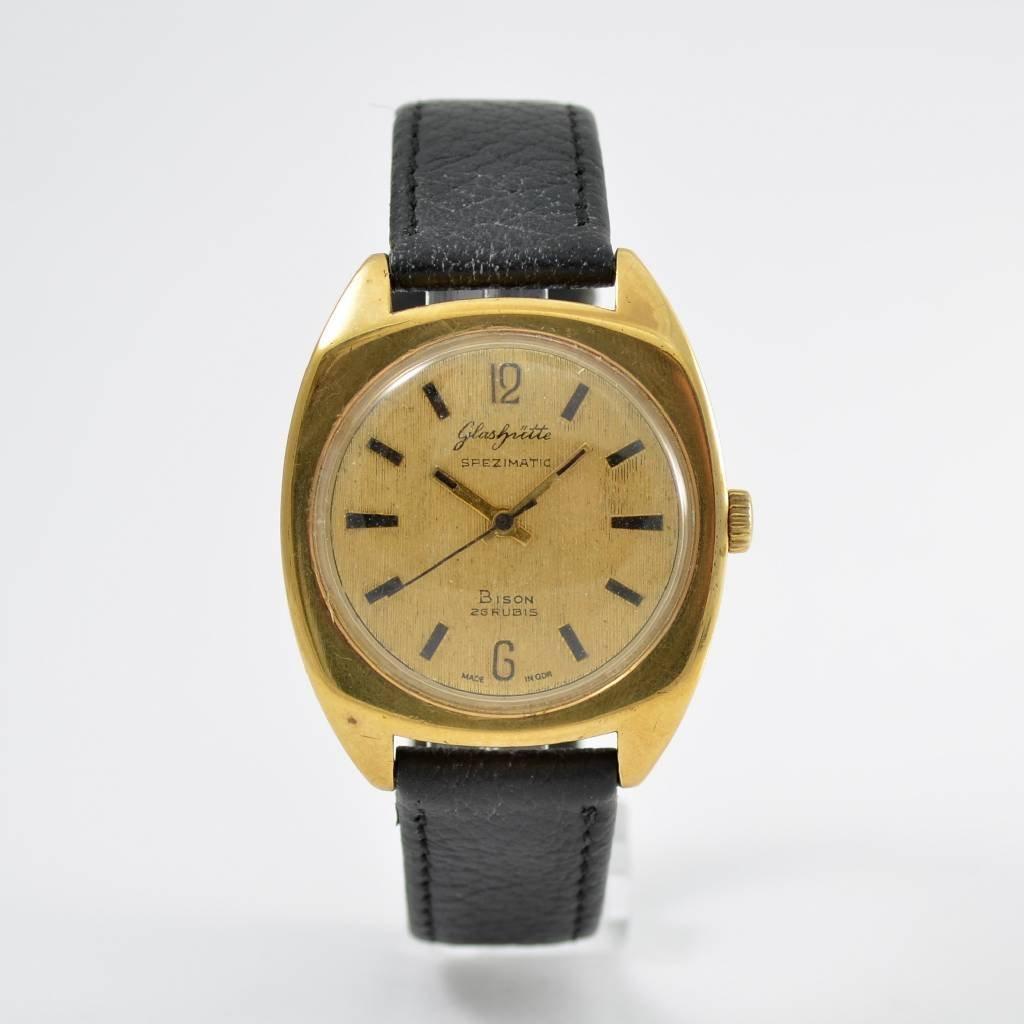 Set of 2 GLASHÜTTE Spezimatic wristwatches  1970´s