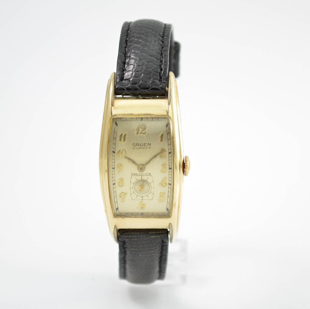 GRUEN gent's wristwatch Curvex Precision calibre 330