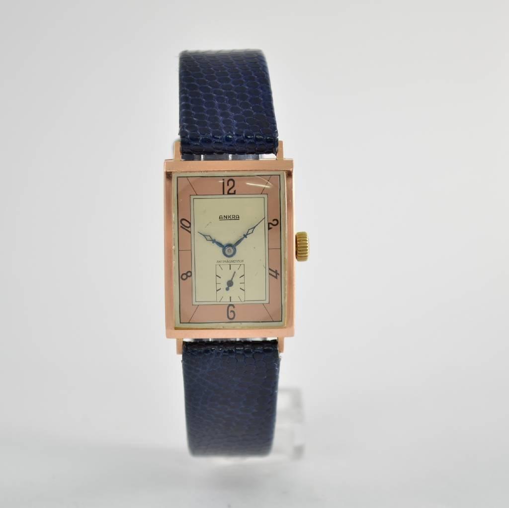 ANKRA 14k pink gold wristwatch, Germany around 1940