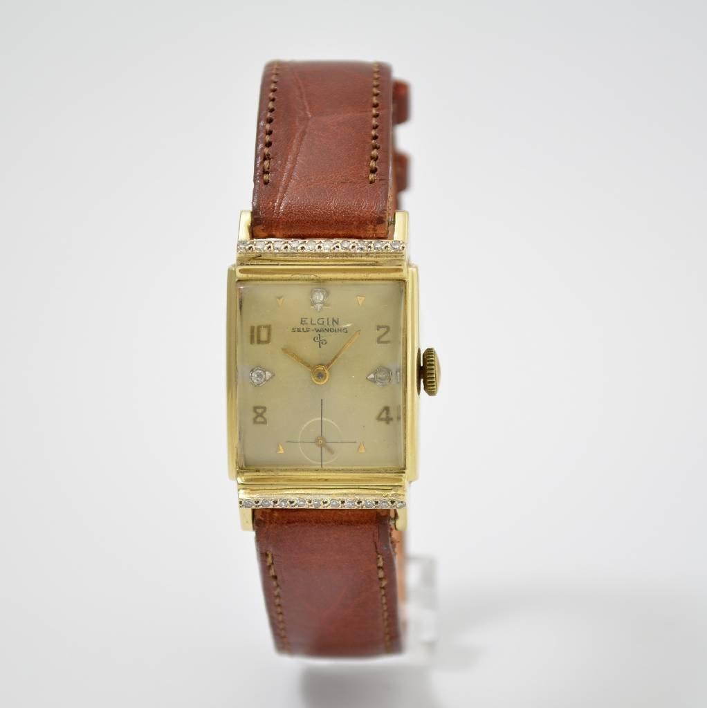 LORD ELGIN 14k yellow gold gent's wrist watch 1940`s