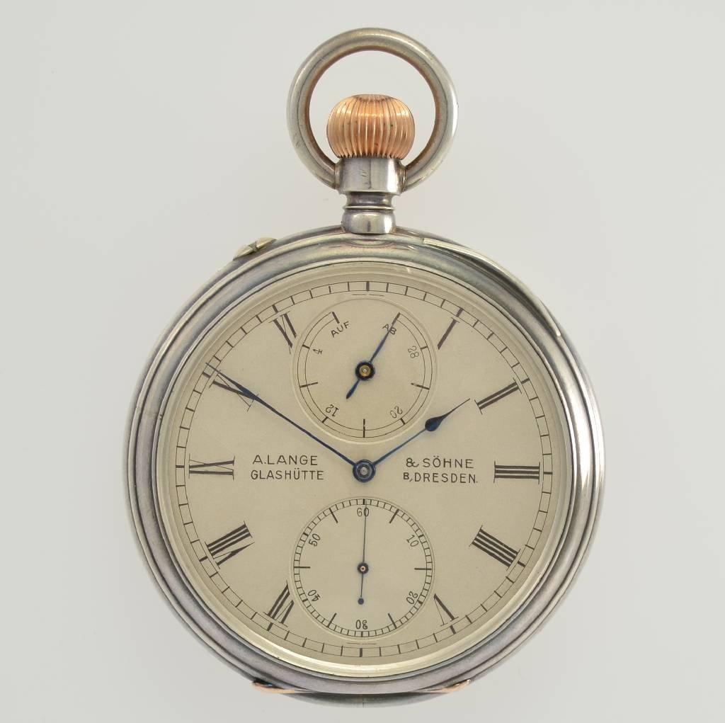 A. LANGE & SÖHNE 1/2 second-chronometer pocket watch