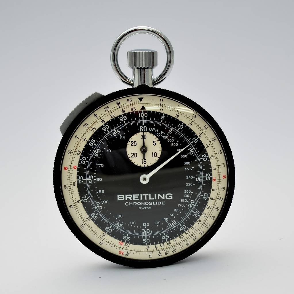 BREITLING Chronoslide stop watch, reference 1`577, NOS