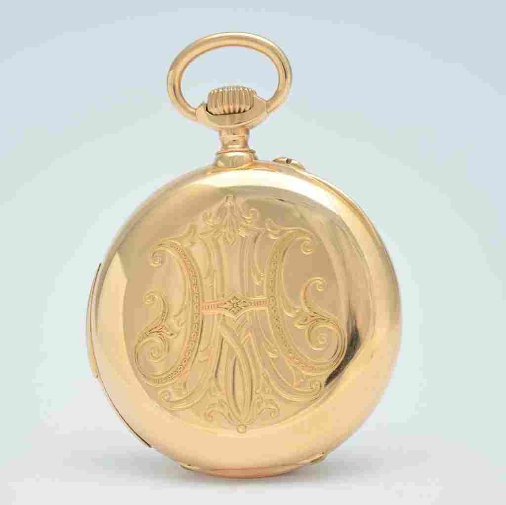 MARIUS LECOULTRE fine 18k gold minute repeater