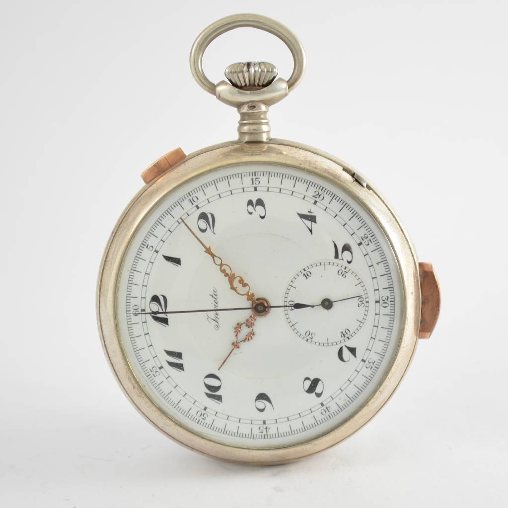 INVICTA open face pocket watch with 1/4 repetition