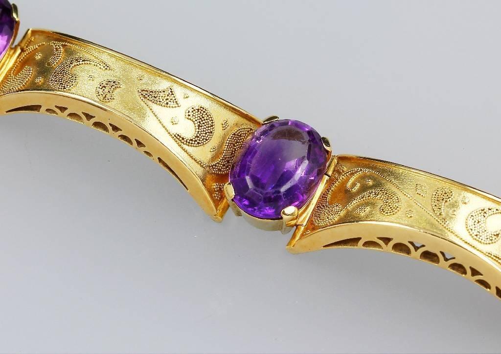 14kt Gold bracelet with amethyst