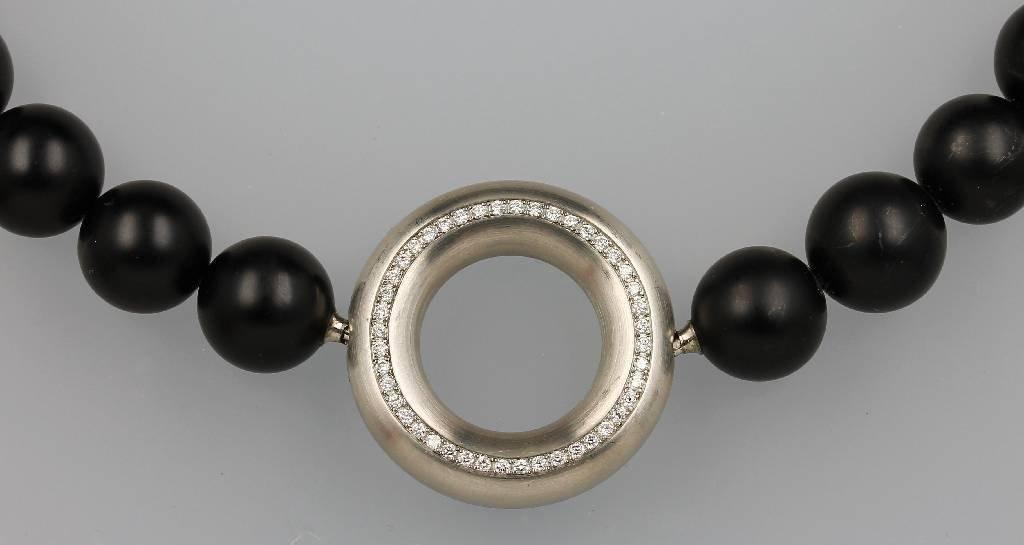 Designer-necklace with brilliants from WERNER HAERING,