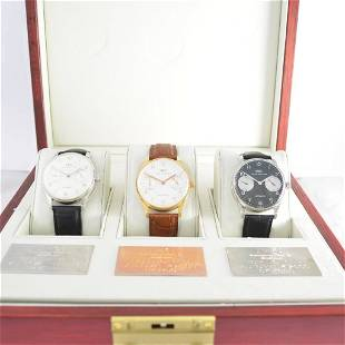 Very fine and extrem rare set of 3 limited IWC