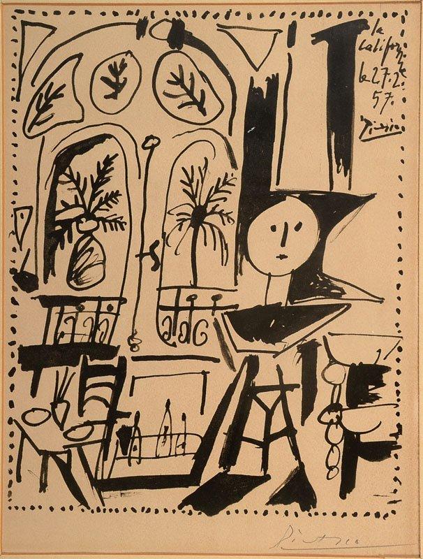 Pablo Picasso, 1881-1973, La Californie, Lithograph
