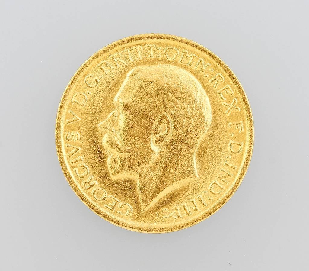 Gold coin, Sovereign, Great Britain 1912