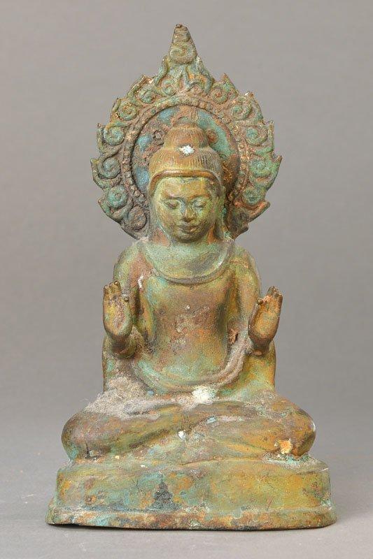 Buddha with Mandorla, Thailand / Burma, 12th-13th C.,
