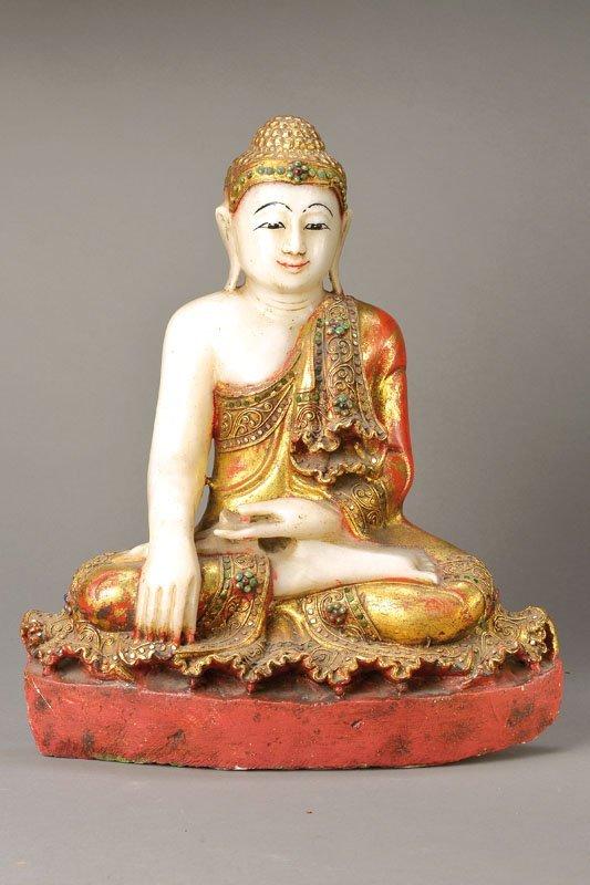 Buddha, Burma, 1900, Alabaster,